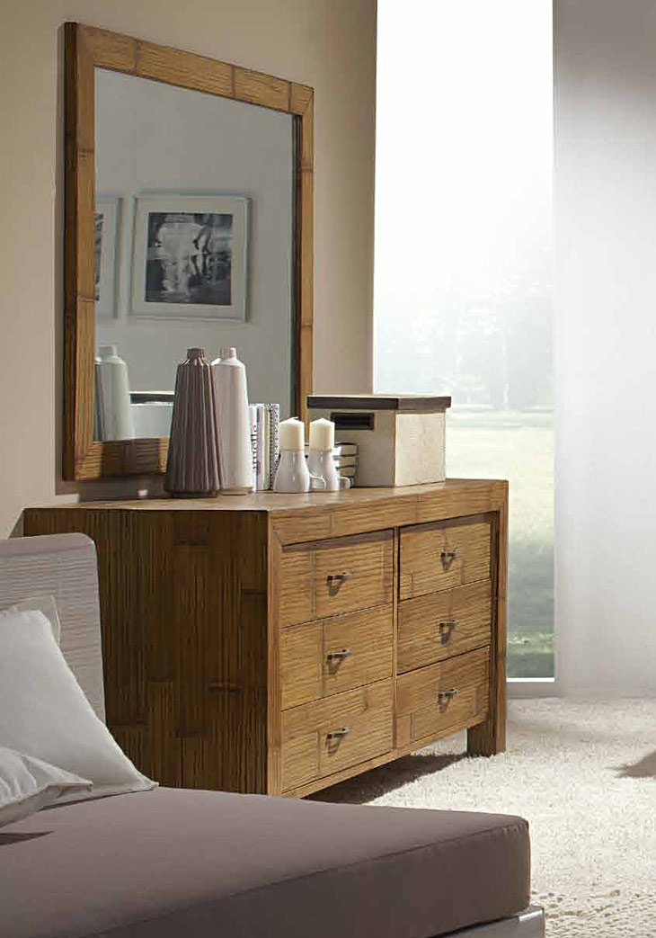 commode bambou lamell 6 tiroirs 6332. Black Bedroom Furniture Sets. Home Design Ideas