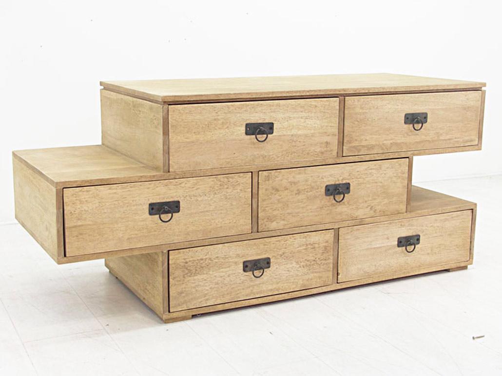 lement modulable en bois 6 tiroirs couleur au choix. Black Bedroom Furniture Sets. Home Design Ideas