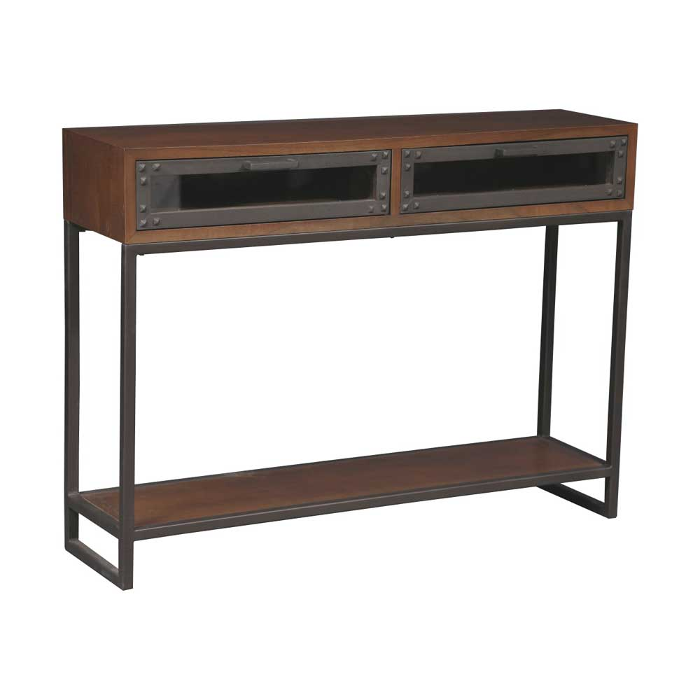 console style industriel bois et m tal la chaleur du bois. Black Bedroom Furniture Sets. Home Design Ideas