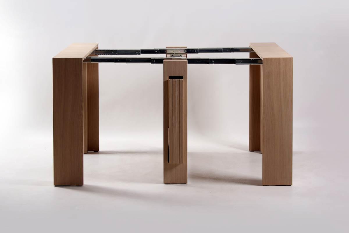 console transformable bois de ch ne cleve 5777. Black Bedroom Furniture Sets. Home Design Ideas