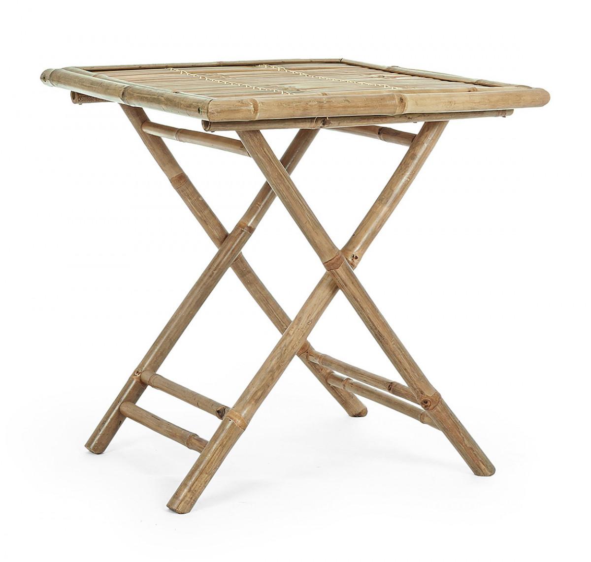 petite table repas en bambou pliante