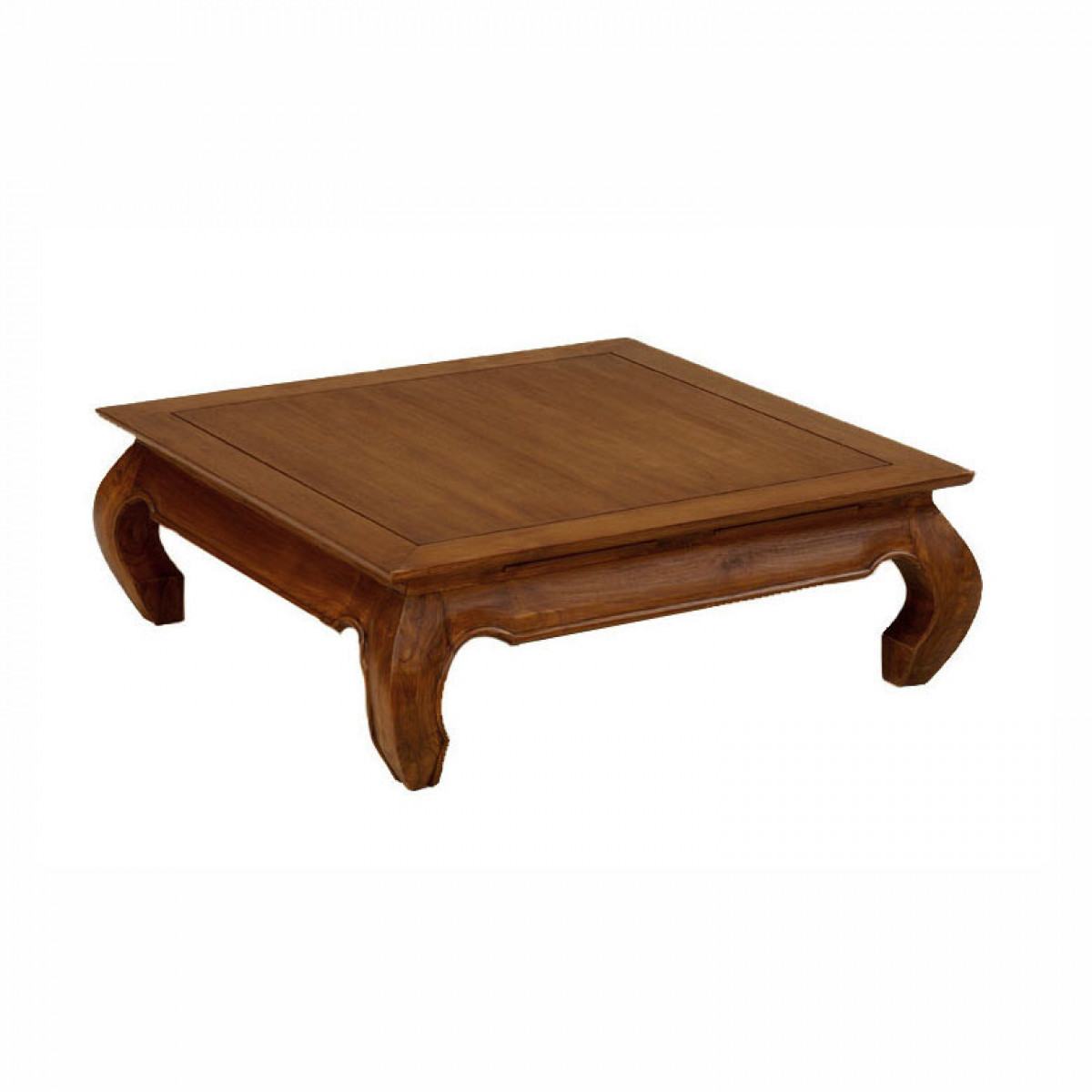Table Basse Carree En Teck Modele Opium 100 X 100 Cm 6503