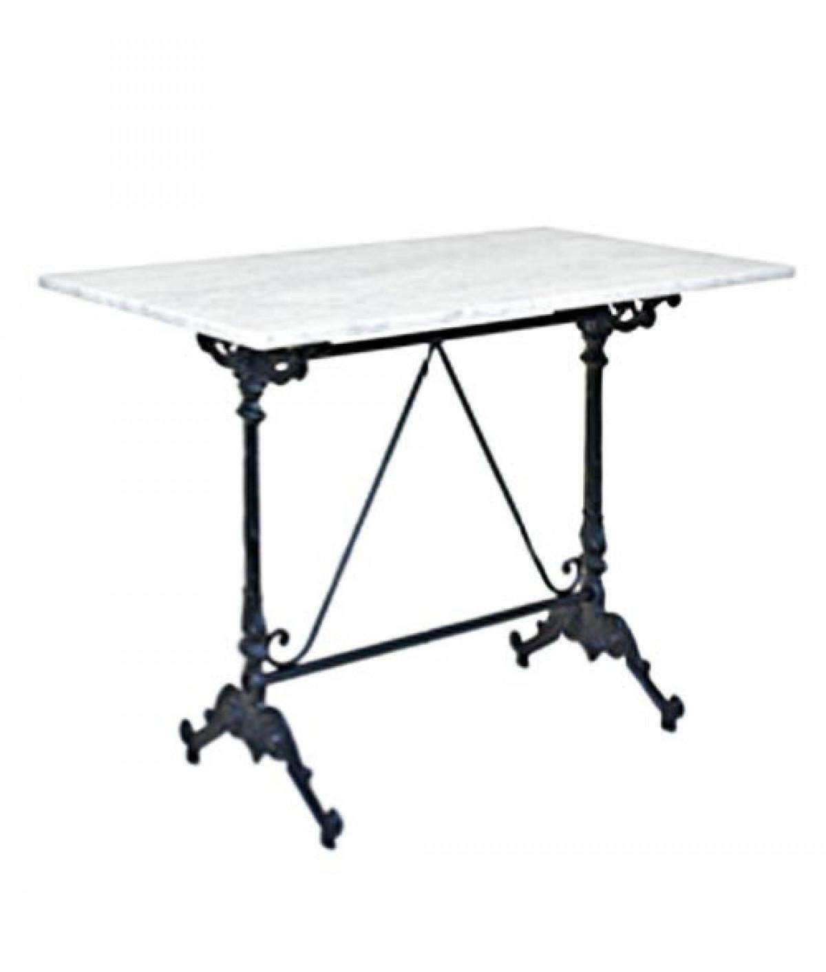 Imitation Pierre Ou Marbre Noble Table De Bistrot