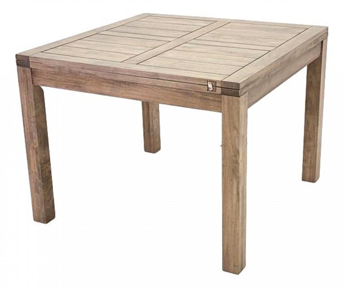 Table Salle A Manger Carré Avec Rallonge ahor, table repas carrée, avec allonge 100 cm