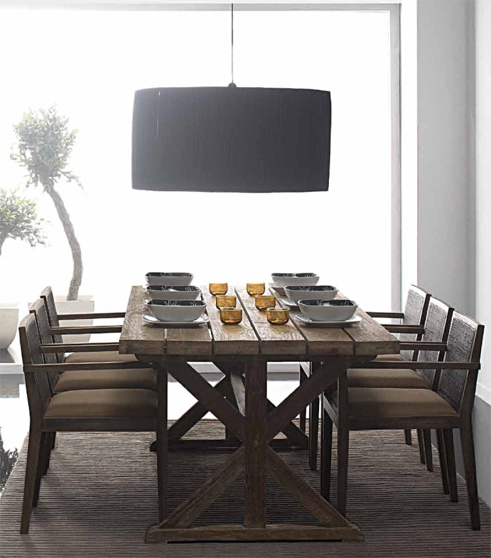 Table salle à manger vieux bois, teck recyclé, charme vintage