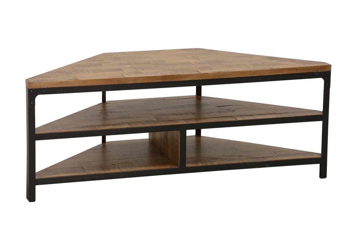 Meuble Tv Angle Bas indus, meuble tv d'angle, style industriel