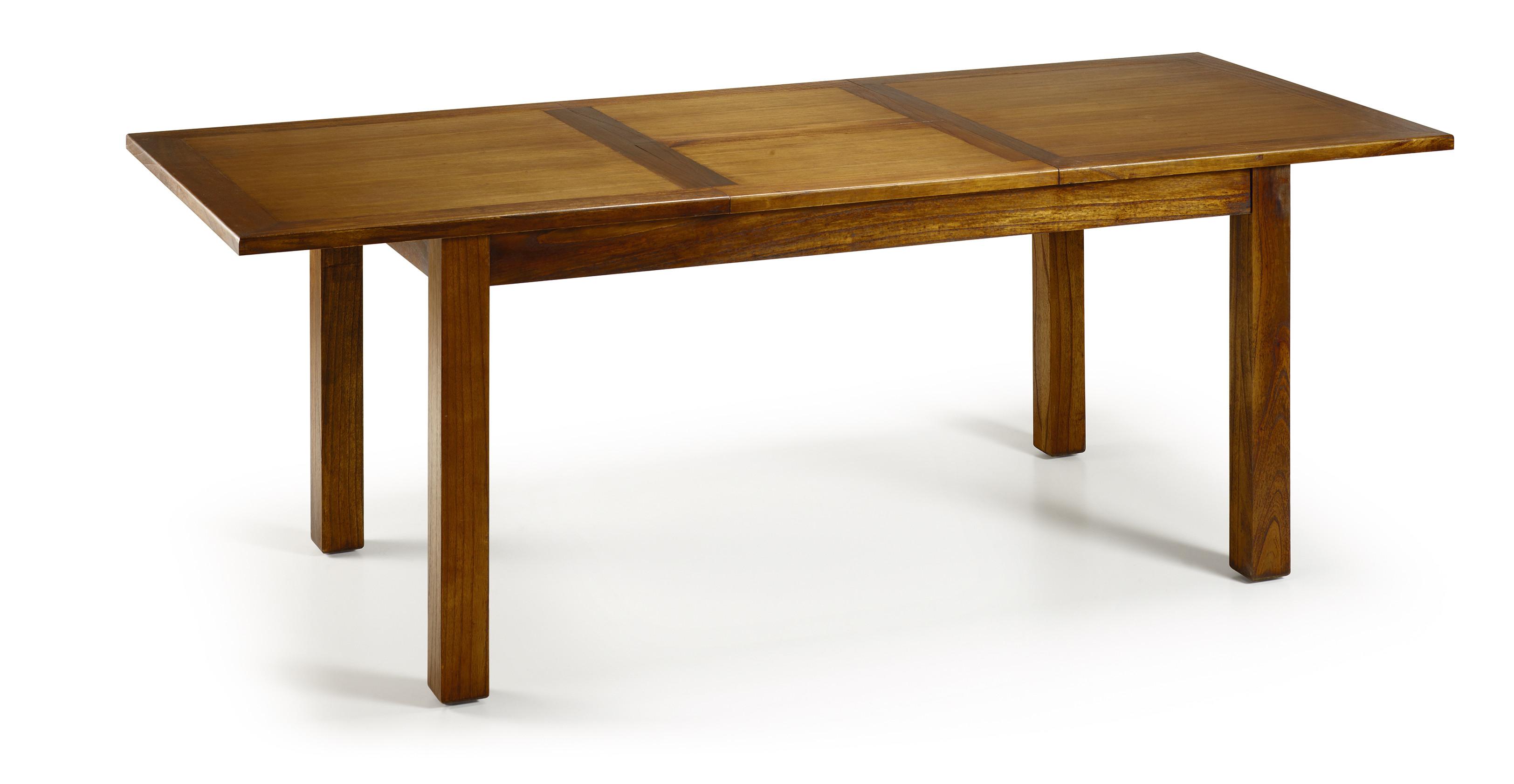 Table de salle manger en bois de mindi extensible 150 - Salle a manger en bois ...