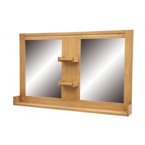 Miroir Salle De Bain Double Miroir Avec Etageres Collection Calveth