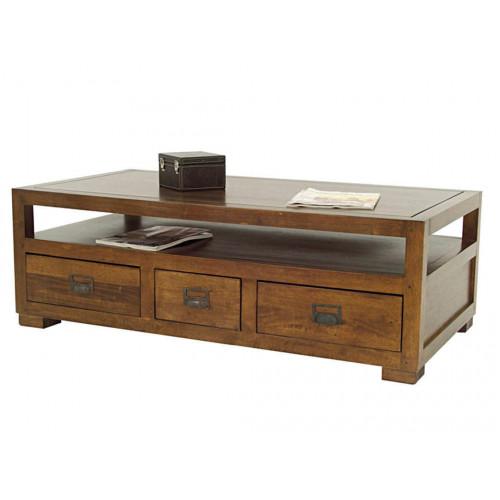 meilleures baskets 5e413 d0a7f Table basse personnalisable avec 3 tiroirs traversants
