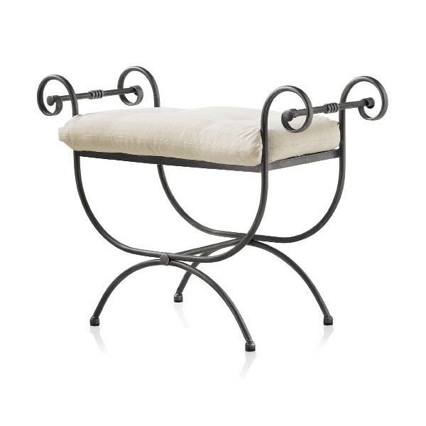 pouf dagobert en fer forg couleur au choix 6122. Black Bedroom Furniture Sets. Home Design Ideas