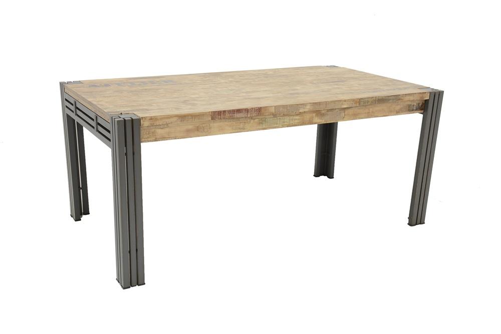 Table repas style industriel avec rallonges extensible, 260*100*76 ...