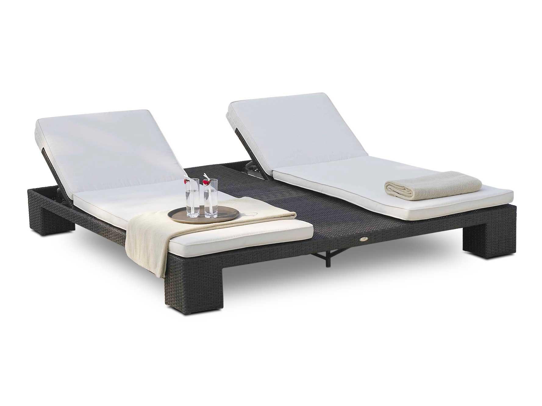 Double bain de soleil de jardin relaxation sunny de lusso - Bain de soleil double pas cher ...