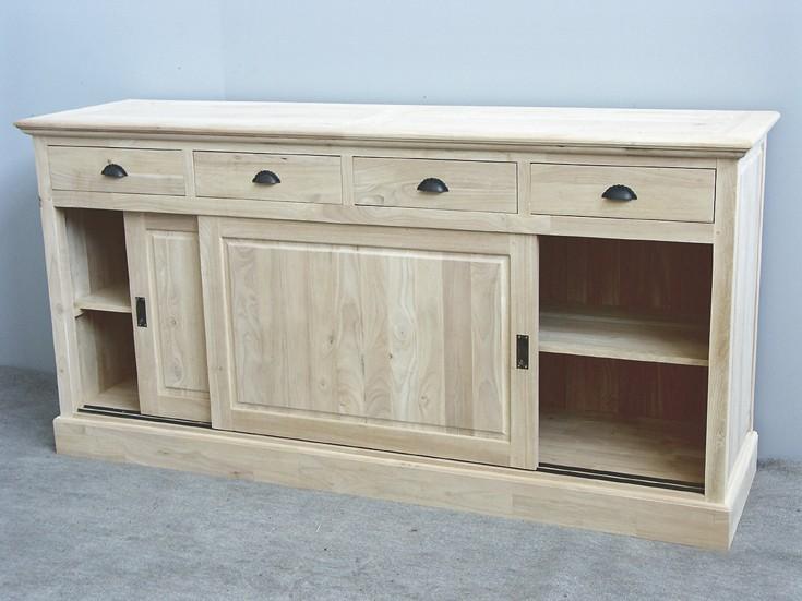 enfilade en bois avec portes coulissantes personnalisable. Black Bedroom Furniture Sets. Home Design Ideas