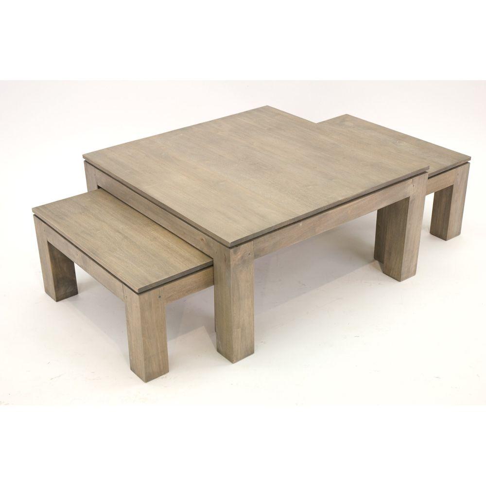 Table basse bois brut tronc - Table basse bois brut a peindre ...