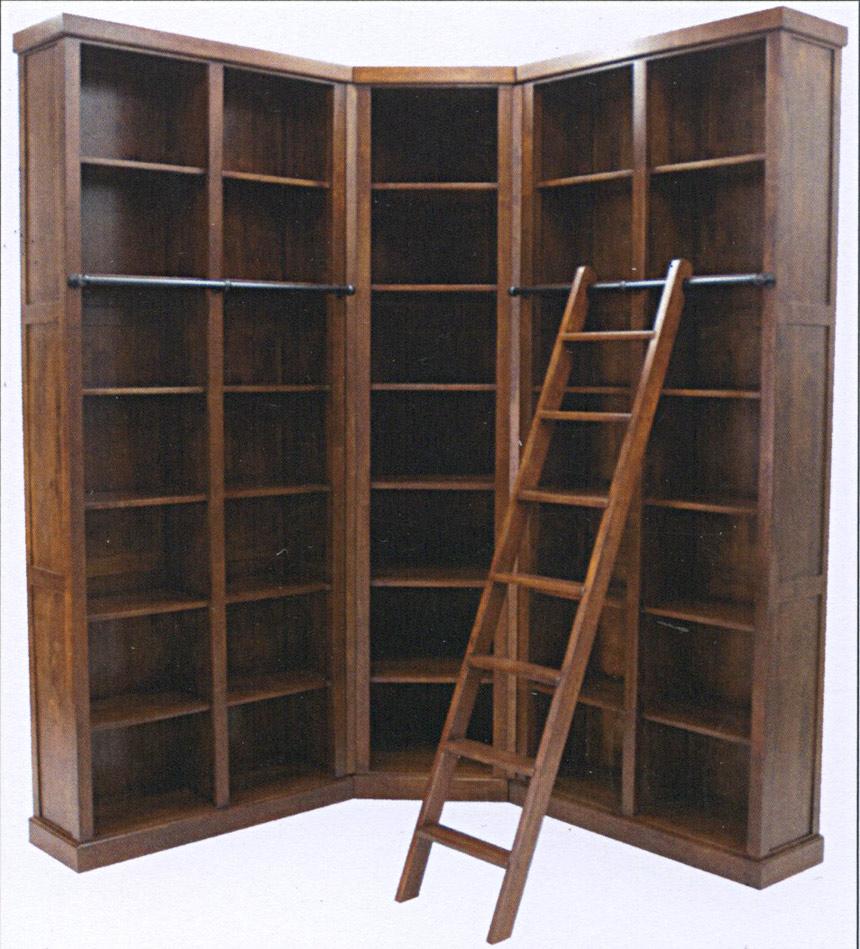 biblioth que d 39 angle modulable en bois personnalisable. Black Bedroom Furniture Sets. Home Design Ideas