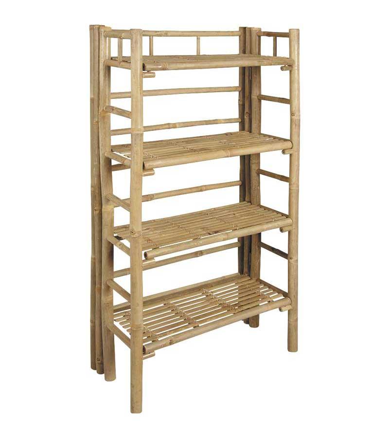 etag re pliante bambou 4 plateaux hauteur 136 cm. Black Bedroom Furniture Sets. Home Design Ideas
