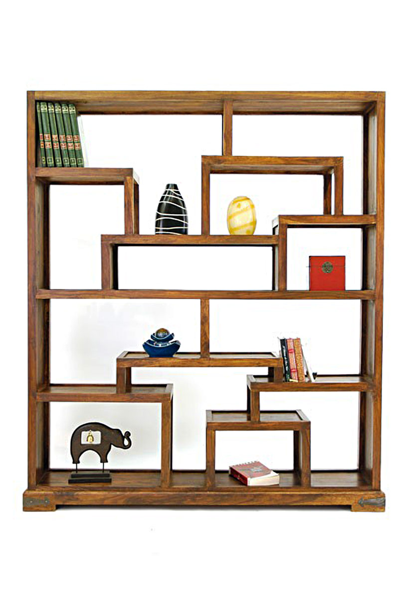 biblioth que tag re d structur e palissandre. Black Bedroom Furniture Sets. Home Design Ideas