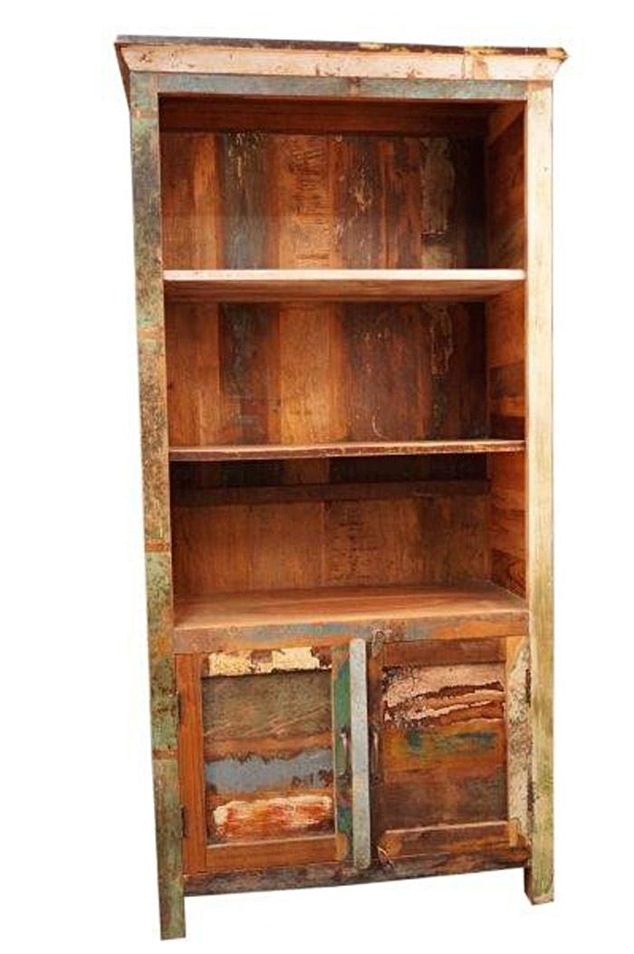 biblioth que teck manguier et palissandre recycl s. Black Bedroom Furniture Sets. Home Design Ideas