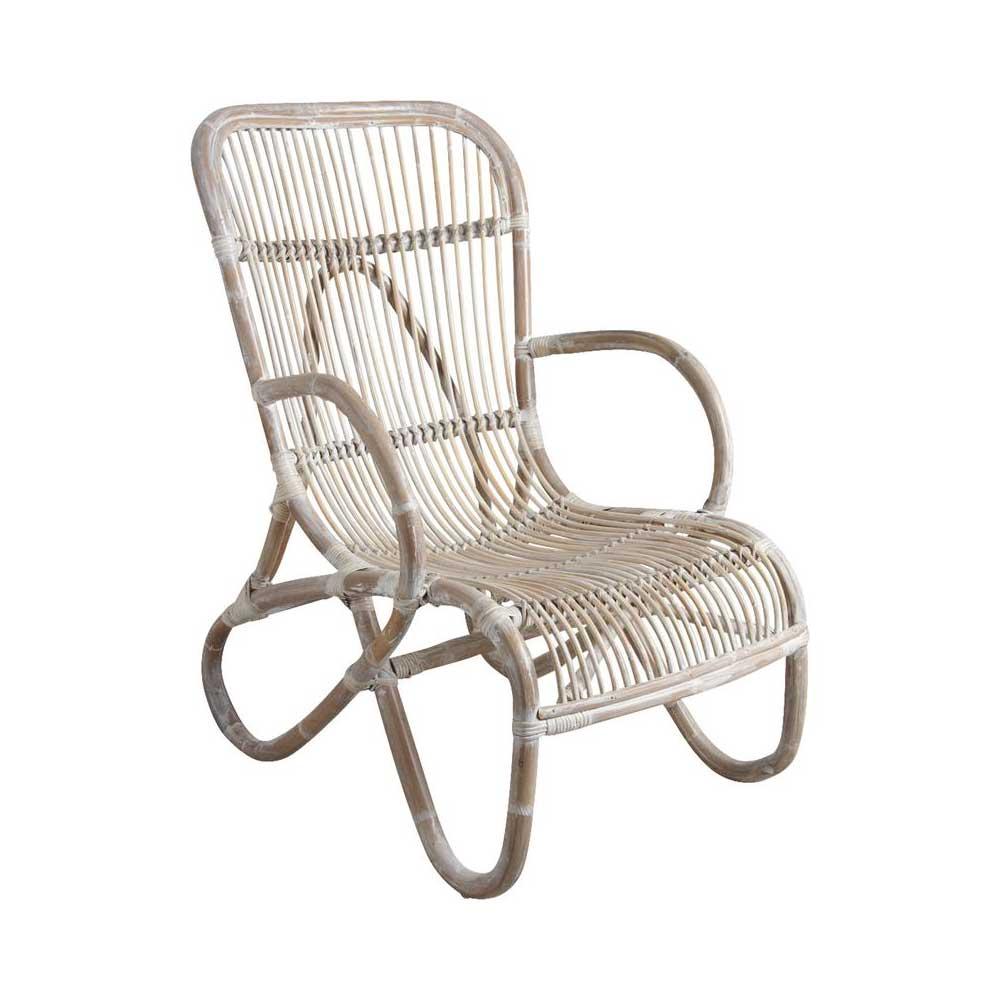 Fauteuil en rotin sous bois des formes enveloppantes un confort ergonomique - Fauteuil en rotin blanc ...