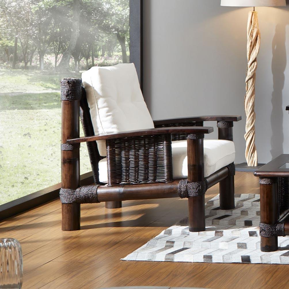 fauteuil bambou tropicana wenge image 1 - Fauteuil Bambou