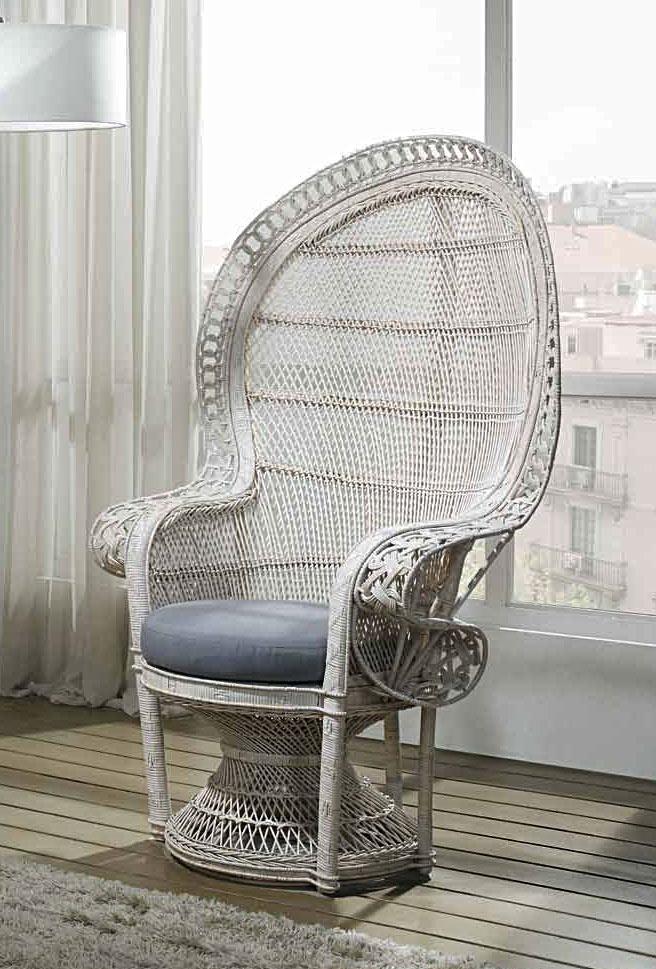 fauteuil rotin c rus blanc emmanuelle 5435. Black Bedroom Furniture Sets. Home Design Ideas