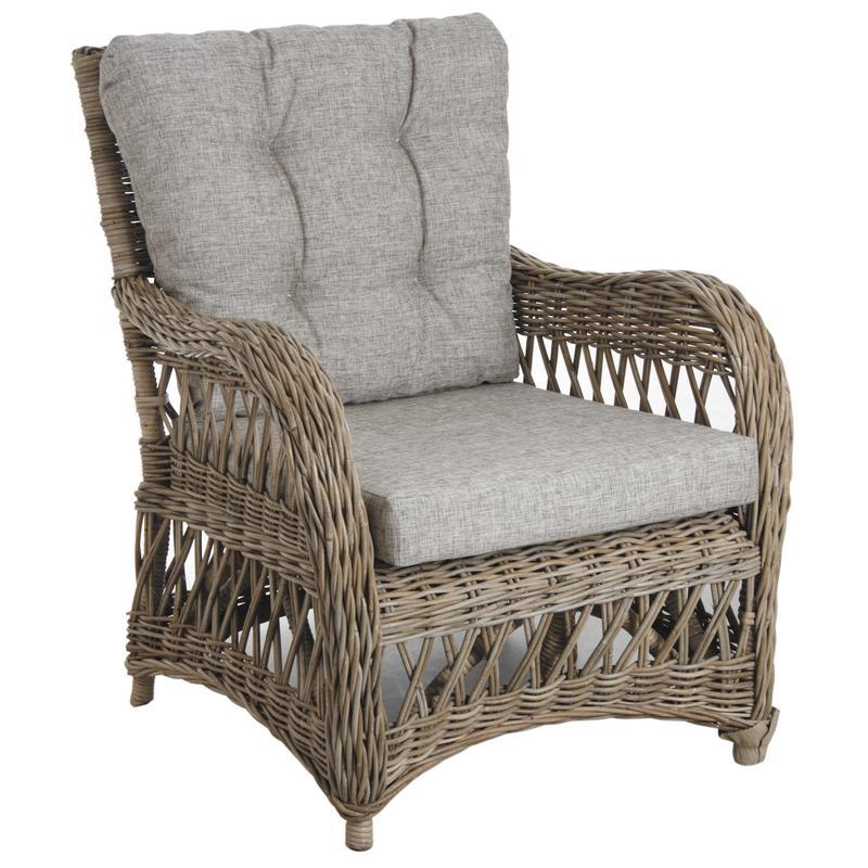 fauteuil en poelet gris. Black Bedroom Furniture Sets. Home Design Ideas
