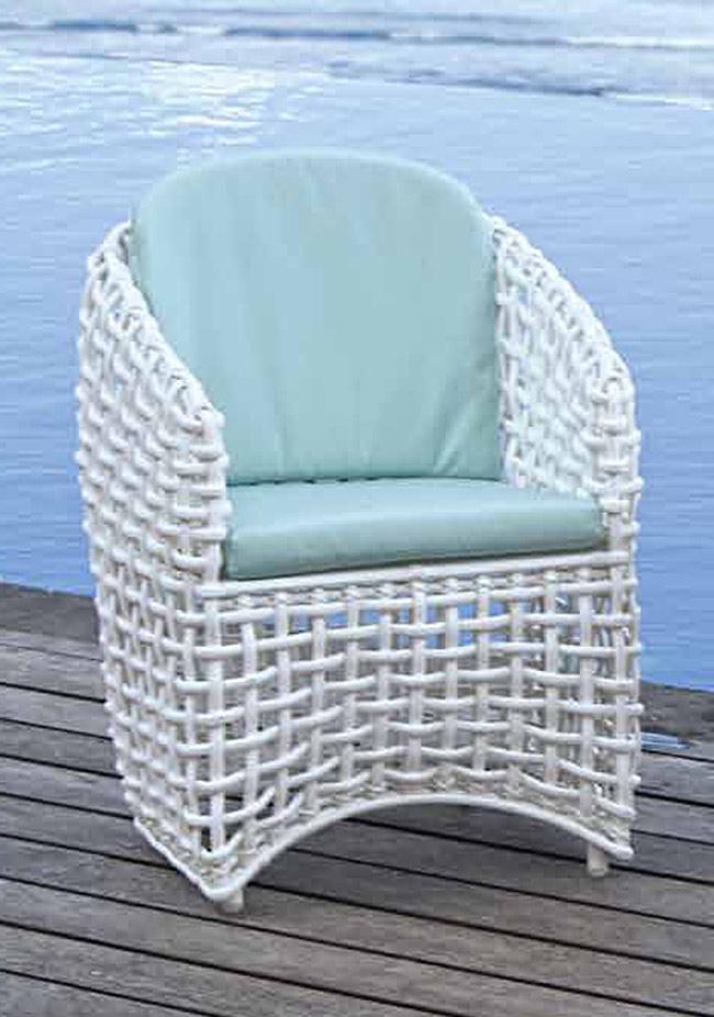 Fauteuil ext rieur r sine blanche avec coussins hydrofuge royo de lusso 5538 - Fauteuil exterieur resine ...