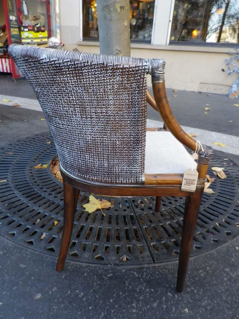 fauteuil de bureau en rotin tapiss luxor. Black Bedroom Furniture Sets. Home Design Ideas