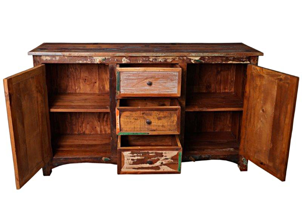 buffet bahut bois recycl buffets bahuts enfilades. Black Bedroom Furniture Sets. Home Design Ideas