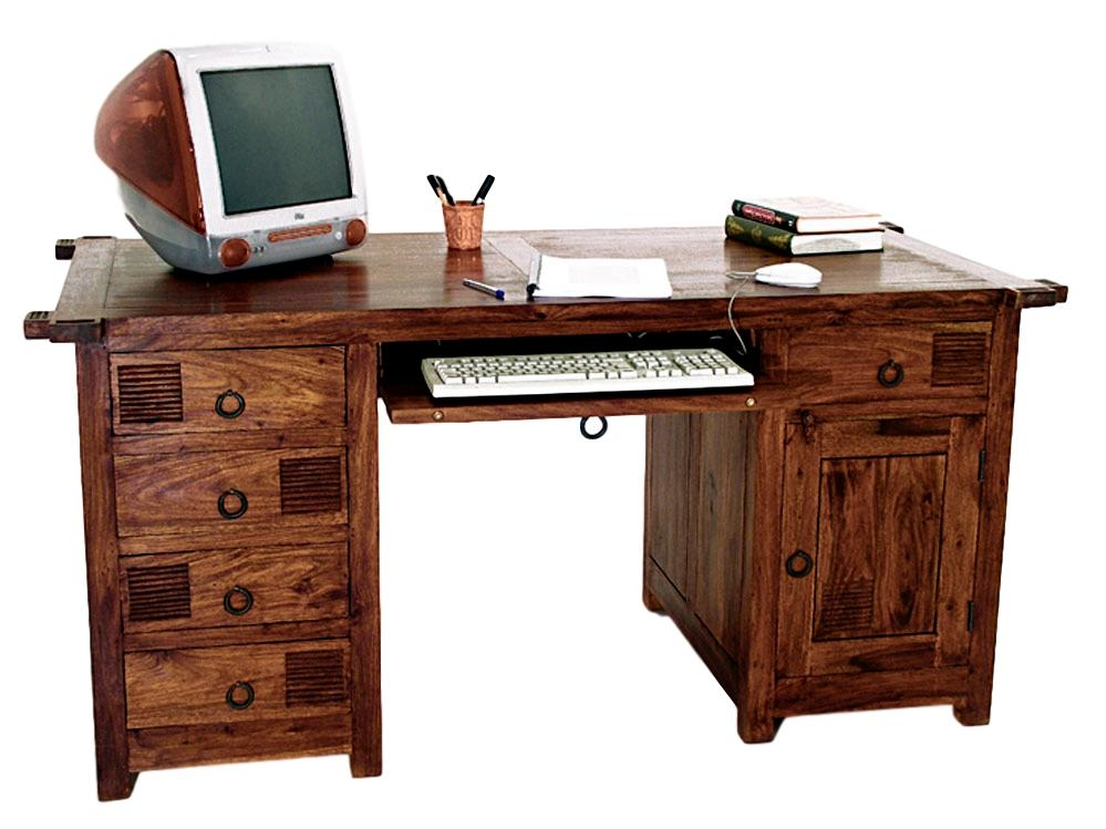 Grand bureau bois wakae