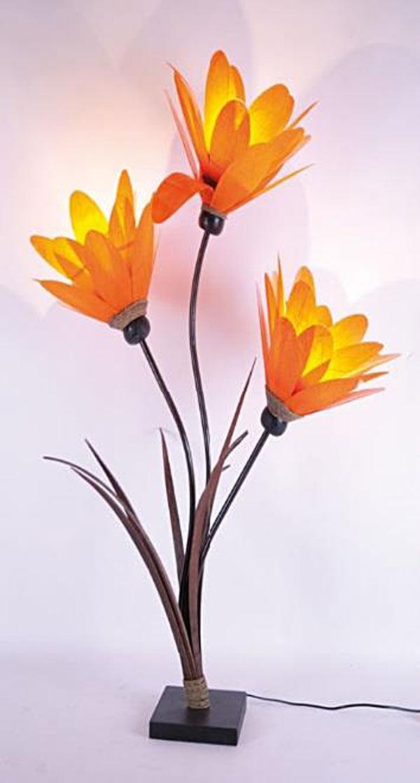 Lampadaire fleur triple éclairage