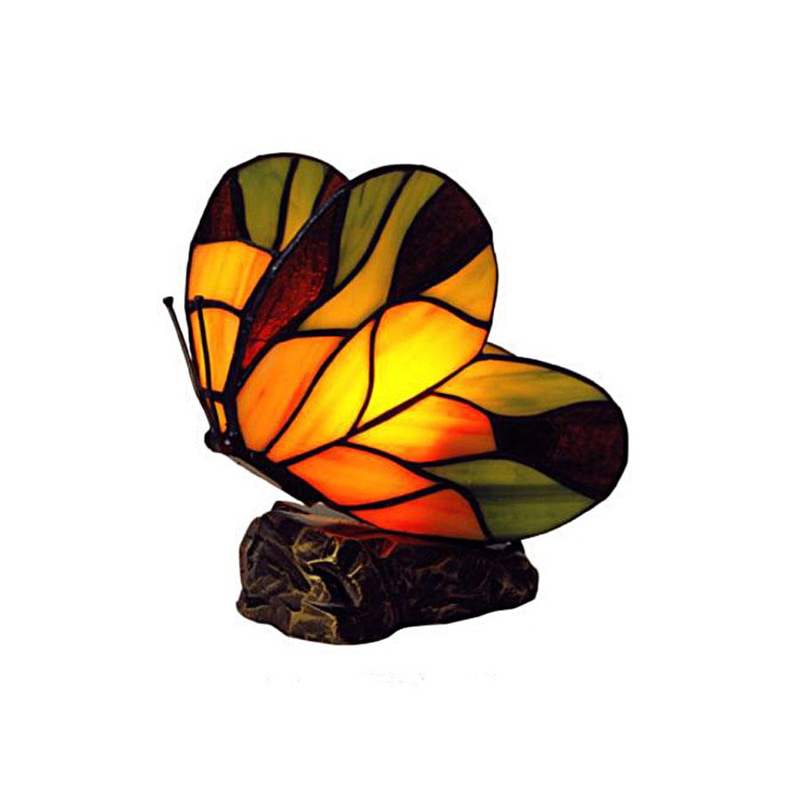 Lampe papillon Tiffany pâte de verre #3564
