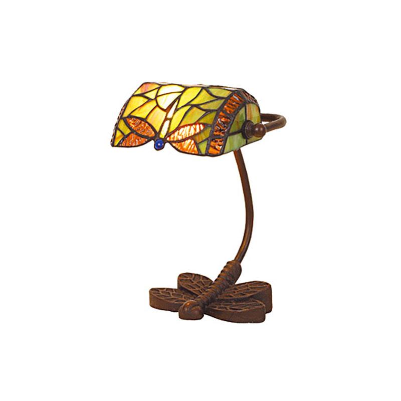 Petite lampe style tiffany libellule hauteur 25 cm 3970 - Lampe pate de verre ...