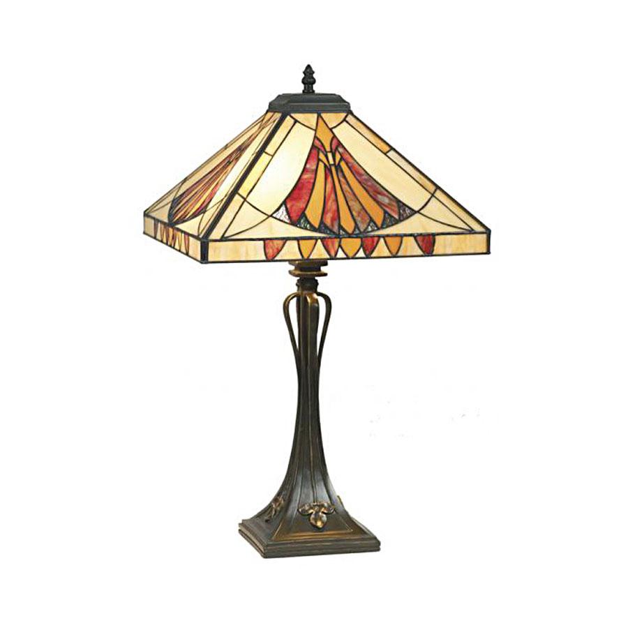 Lampe p te de verre style tiffany 3558 - Lampe pate de verre ...