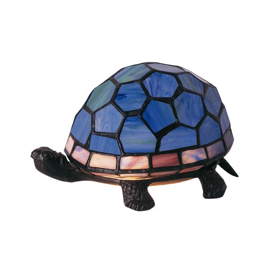 Lampe tortue bleu style tiffany 5142 - Lampe chauffante tortue ...