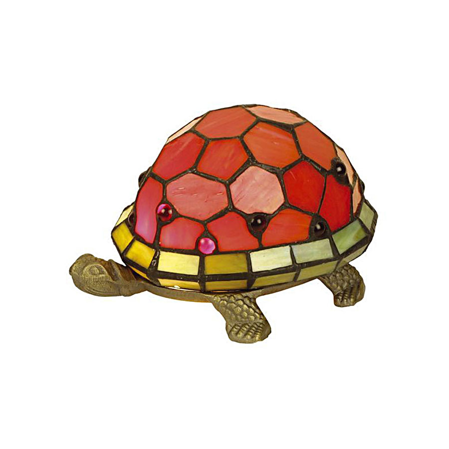 Lampe tortue perle rouge style tiffany 5145 - Lampe chauffante tortue ...