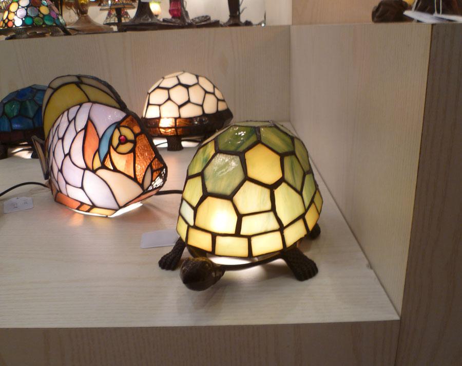 Lampe tortue perle jaune style tiffany 5144 - Lampe chauffante tortue ...