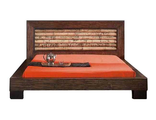 lit bois et bambou rumba dimensions au choix 2737. Black Bedroom Furniture Sets. Home Design Ideas