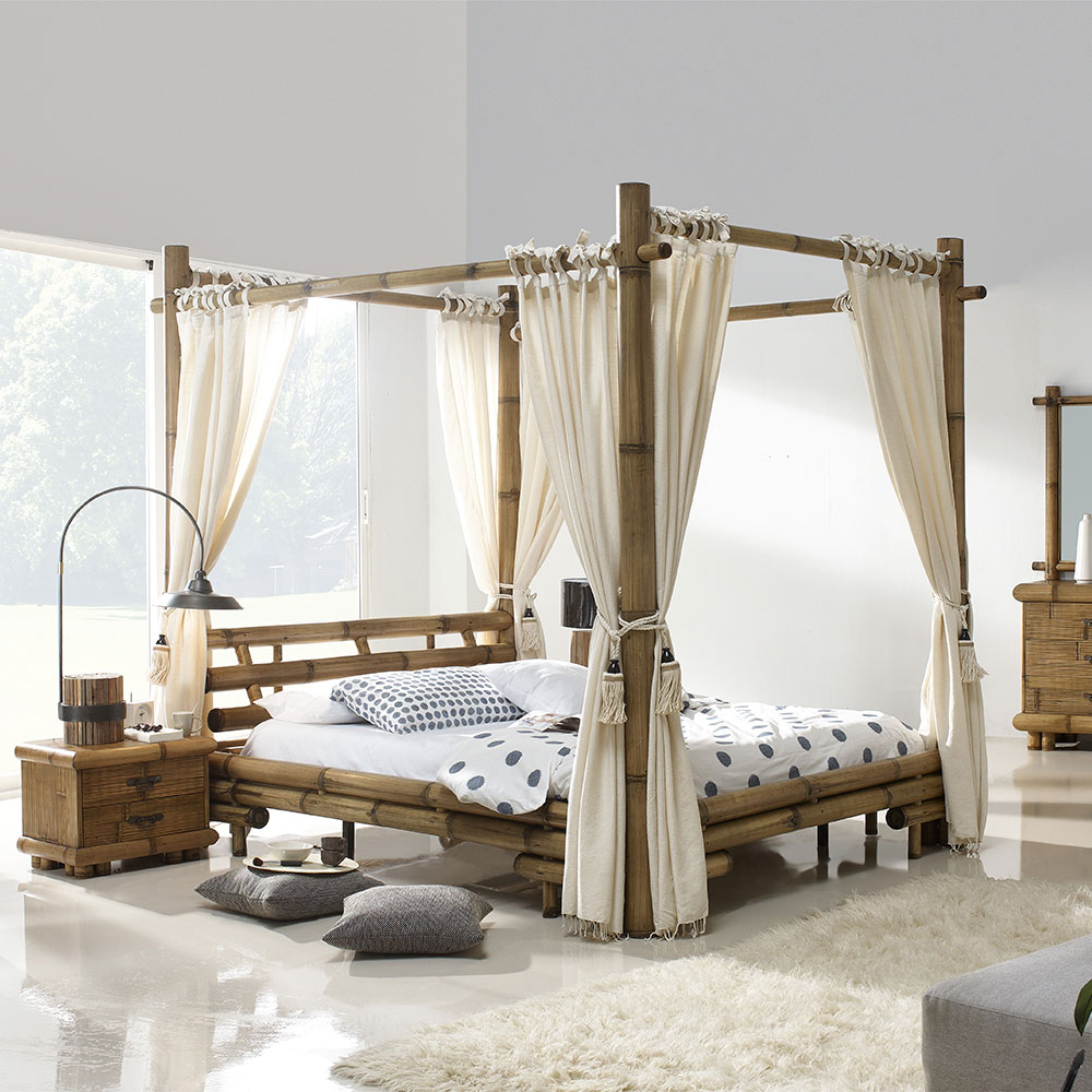 lit baldaquin bambou bambu 3220. Black Bedroom Furniture Sets. Home Design Ideas