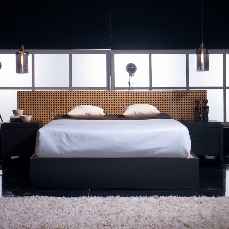lit avec t te cannage bambou azura. Black Bedroom Furniture Sets. Home Design Ideas