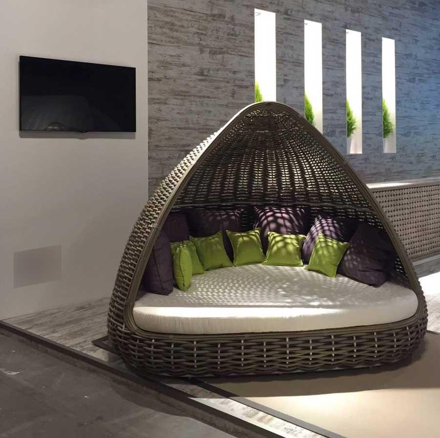 lit de jardin avec toit en rotin kubu tress la main lusso image 5 - Lit De Jardin