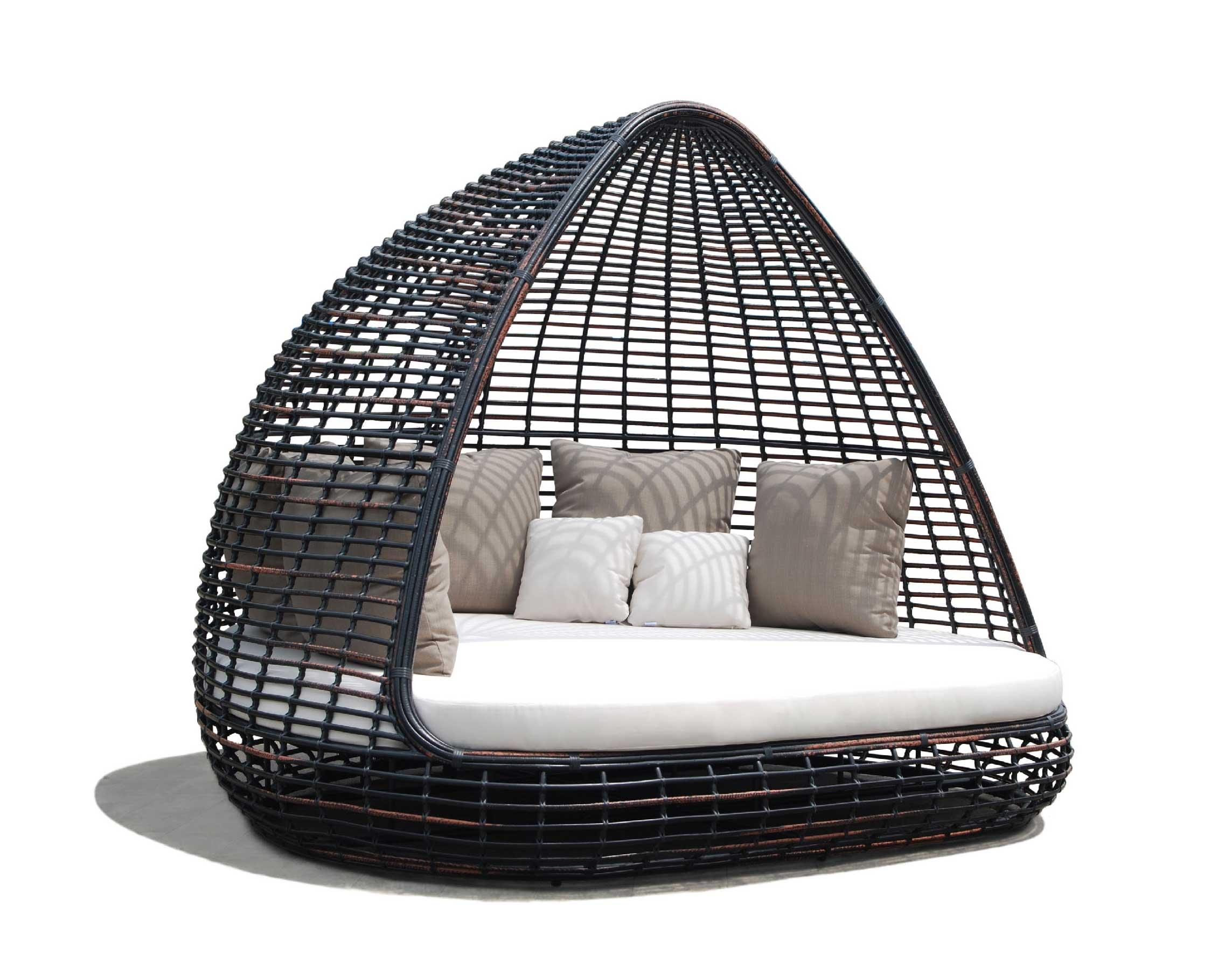 Lit de jardin toit r sine lusso luxe contemporain - Salon de jardin cocoon ...