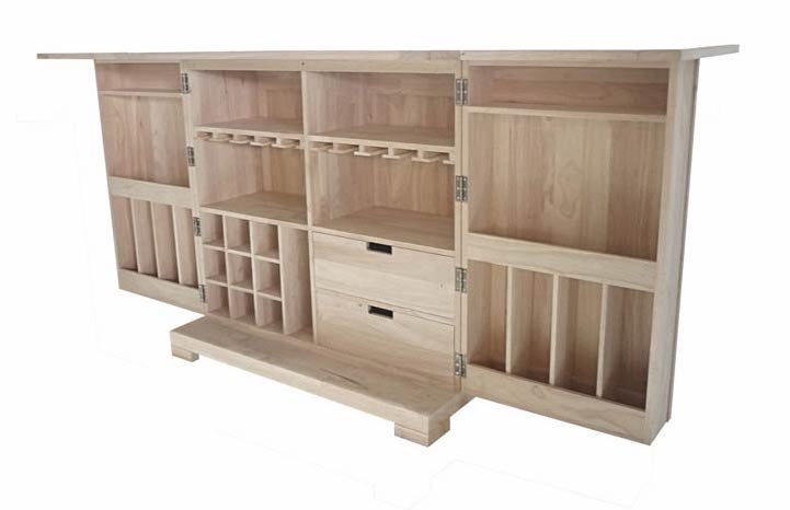 Bar pliant en bois wakae un espace convivial - Meuble bar bois ...