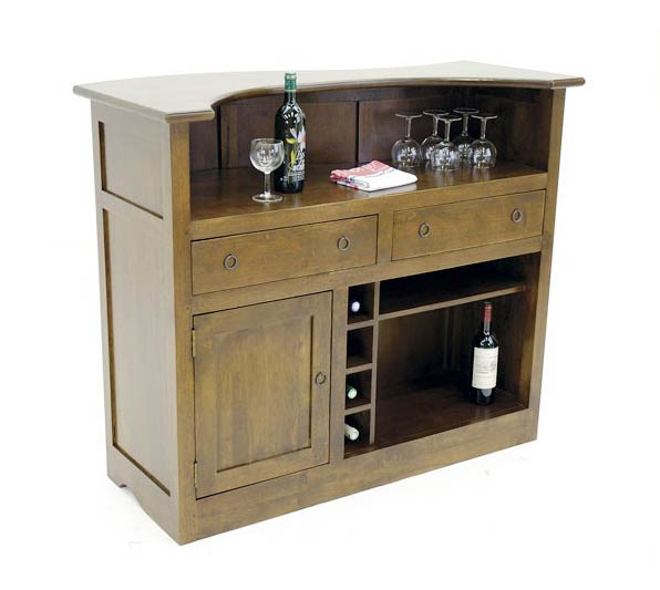 Meuble bar comptoir en bois recycl d 39 h v a for Meuble bar comptoir