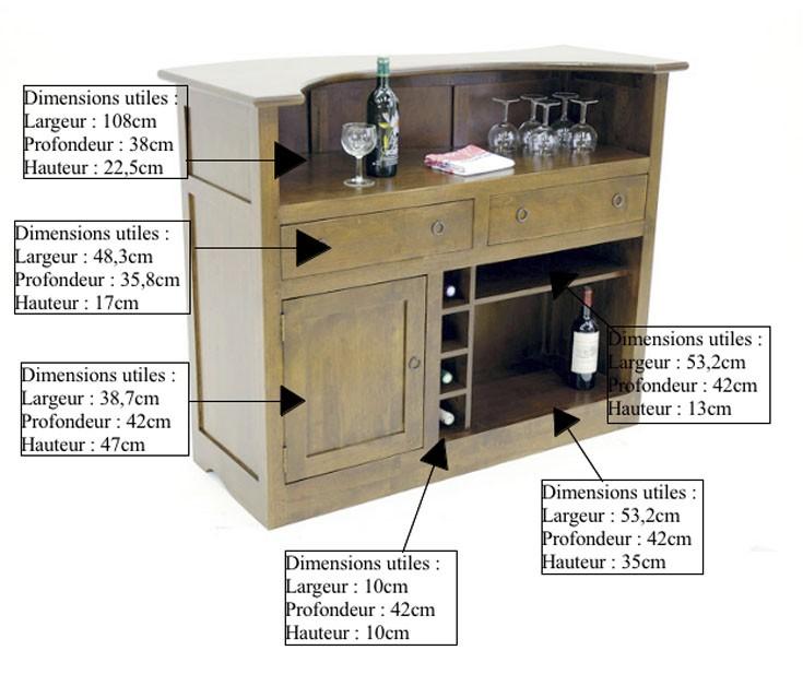Meuble bar comptoir en bois recycl d 39 h v a - Meuble personnalisable ...