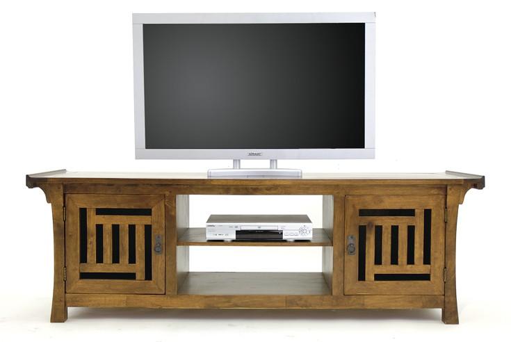 meuble colonial tv vid o bois 5883. Black Bedroom Furniture Sets. Home Design Ideas