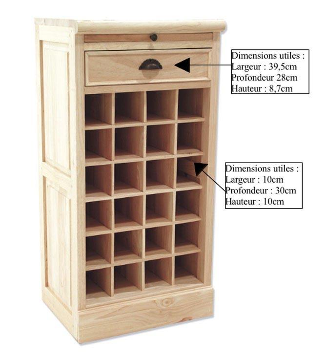 Meuble range bouteilles en bois personnalisable meubles de m tier - Meuble pour ranger les bouteilles ...