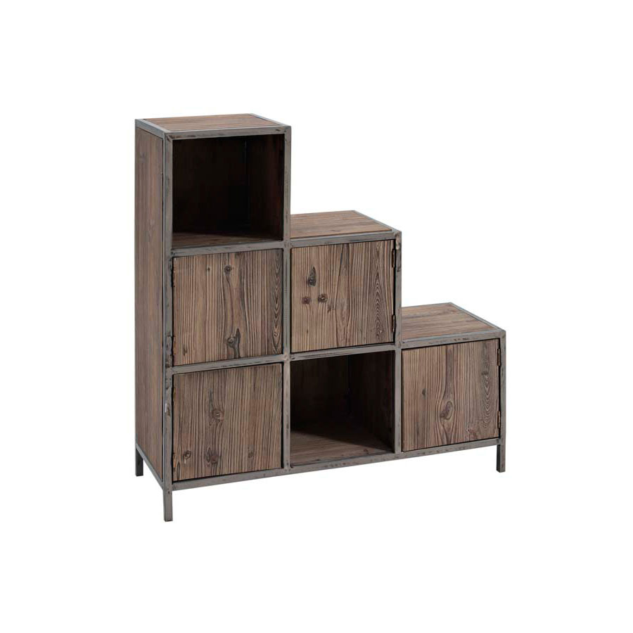 meuble metal bois. Black Bedroom Furniture Sets. Home Design Ideas