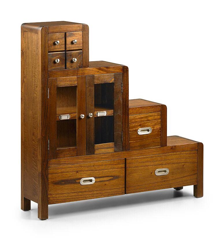 meuble escalier en bois de mindi version gauche saurus. Black Bedroom Furniture Sets. Home Design Ideas