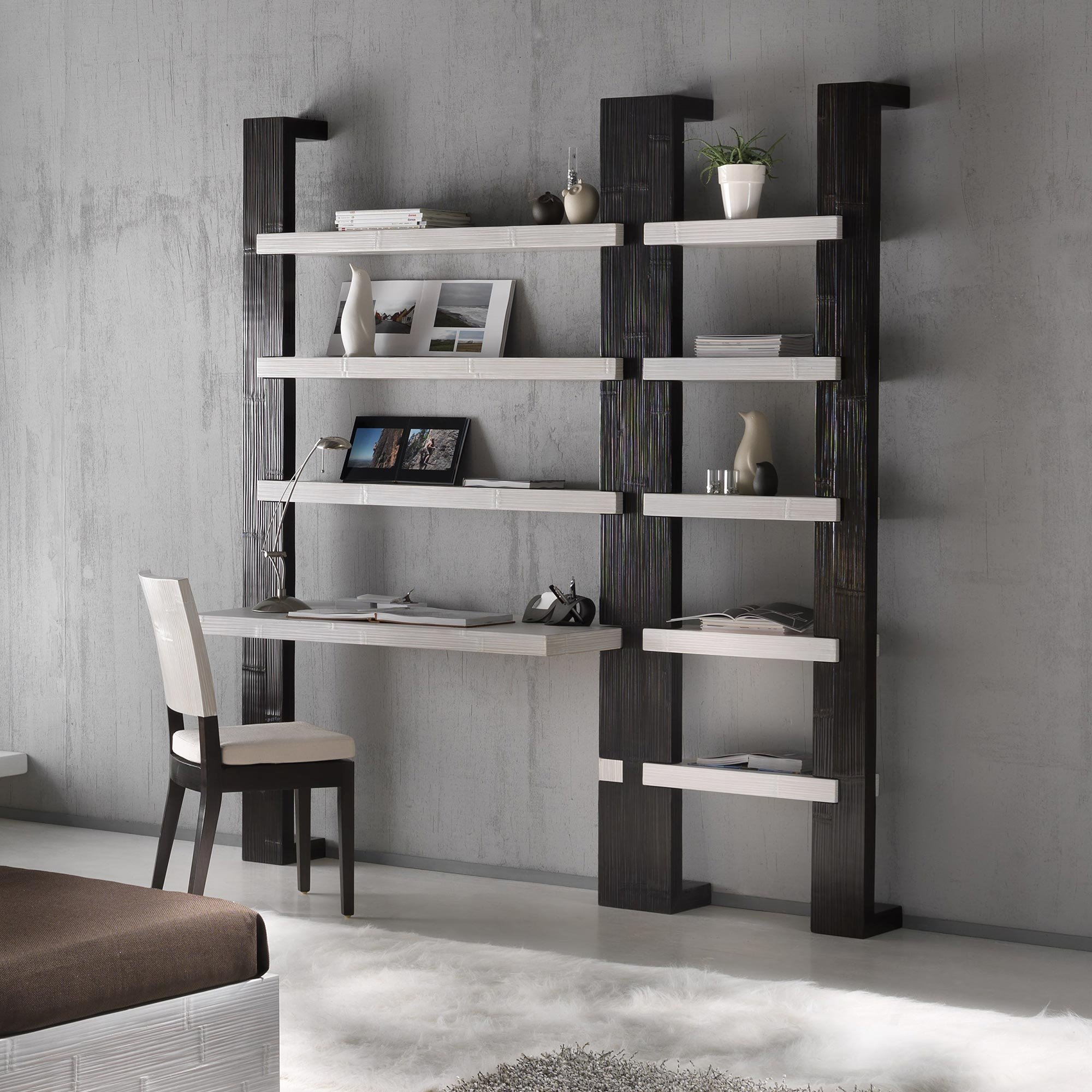 bureau modulable moderne gamme indah. Black Bedroom Furniture Sets. Home Design Ideas